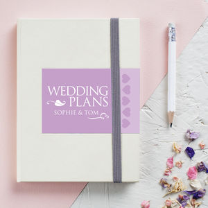 Personalised Engagement Wedding Notebook - wedding wedmin