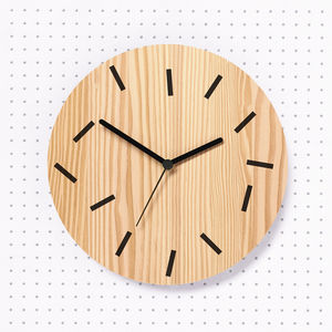 Fallen Wooden Wall Clock - clocks