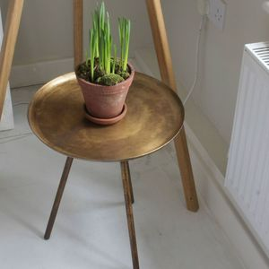 Contemporary Frost Copper Side Table - furniture