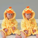 Personalised Twins Soft Chick Dressing Gown Set