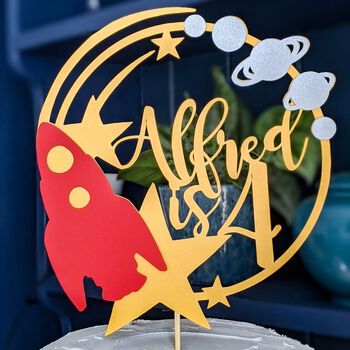 Rocket Cake Topper And Party Pack