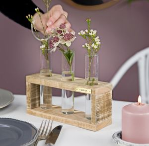 Personalised Stem Vase Holder - home accessories