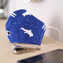 Blue Astronaut Space Fabric Face Mask