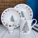 Christmas Morning Bone China Breakfast Set