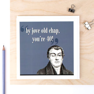 40th Birthday Card 'By Jove You're 40'