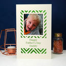 Papercut Father's Day Geometric Photo Card