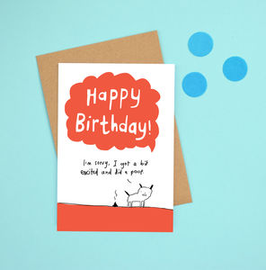 'Happy Birthday Dog Poop' Card - birthday cards