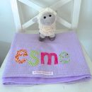 Personalised Baby Blankets - lilac