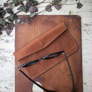 Personalised Vintage Leather Glasses Case - men's accessories