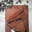 Personalised Vintage Leather Glasses Case