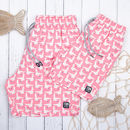 Father And Son Matching Sea Pink Seagulls Swim Shorts