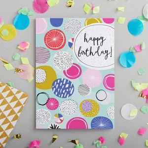 Contemporary Happy Birthday Card - birthday cards