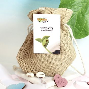 Valentines Grow A Love Message Jute Bag