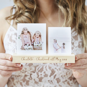 Personalised Christening Photo Block - picture frames for children