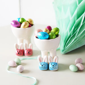 Bunnies Egg Cup With Chocolates
