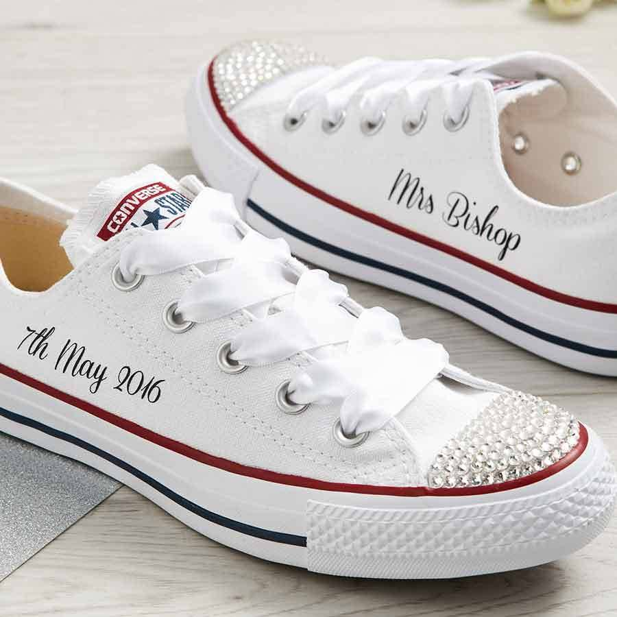 66dd40ee8b5b bride custom wedding converse by yeah boo
