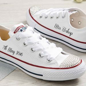Bride Custom Wedding Converse - bridal shoes