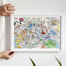 Berlin Illustrated Map Print