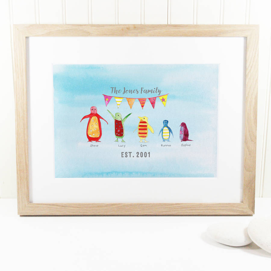 5d1e10ff7833ac personalised penguin family print by this is nessie ...