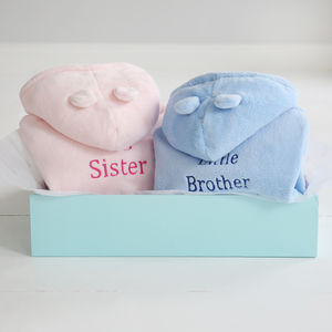 Big And Little Sibling Robes - baby care