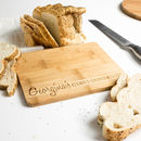 Personalised Seasoned With Love Bamboo Chopping Board