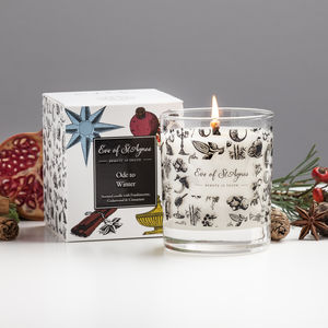 Winter Scented Candle, Christmas Candle Gift For Her - dining room