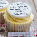 I Love You To The Moon And Back Cupcake Toppers