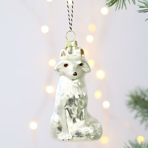 Arctic Fox Bauble - winter sale