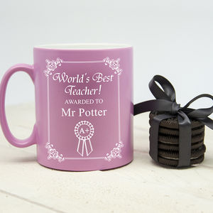 World's Best Teacher Award Matte Coloured Mug