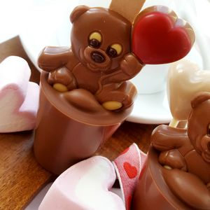 Valentine's Teddy Hot Chocolate Spoon Gift