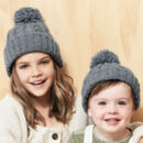 Matching Kids Cable Knit Beanie Hats
