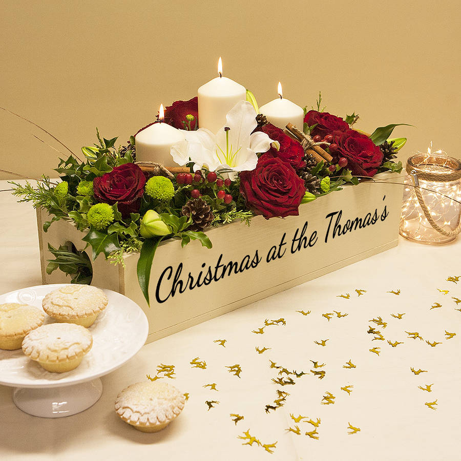personalised christmas table centre