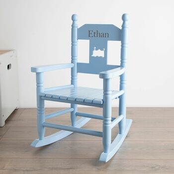 Personalised Wooden Rocking Chair