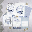 'A Winters Day' Wedding Invitation