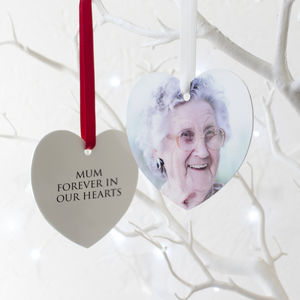 Personalised Memorial Heart Decoration