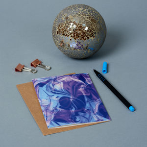 Purple Marble Greeting Card