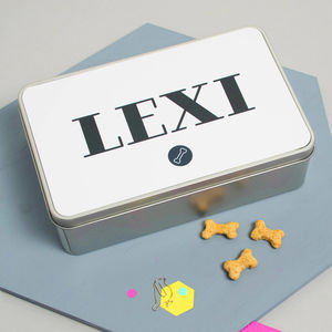 Personalised Dog Treat Tin - treats & food