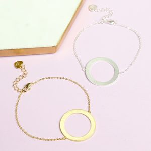 Brushed Hoop Bracelet