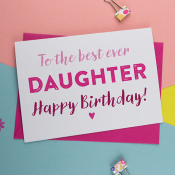 Birthday Card For Daughter