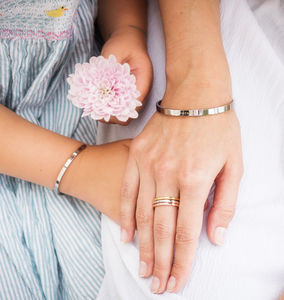 Mother And Daugther Affirmation Bangles