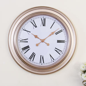 Extra Large Copper Wall Clock - decorative accessories