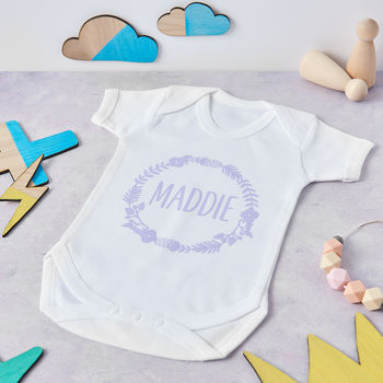 Personalised Baby outfit for Baby girl