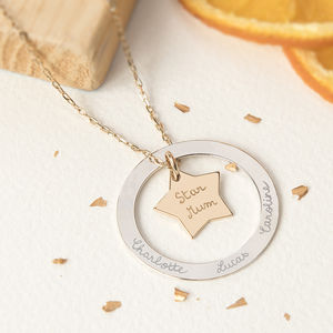 Personalised Eternity Star Necklace - necklaces & pendants