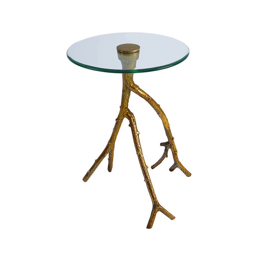 brass tree branch side table by i love retro notonthehighstreetcom