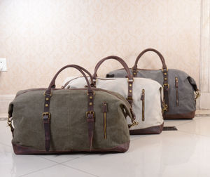 Canvas Classic Travel Holdall Bag - bags & cases