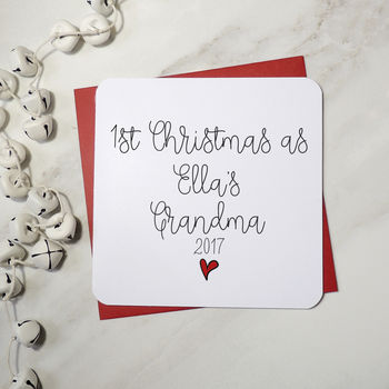 1st Christmas As A Grandmother Personalised Script Card