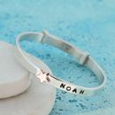 Handmade Personalised Gold Star Christening Bangle