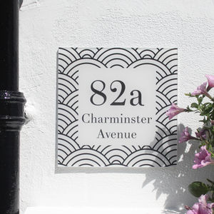 Personalised House Number Sign, Geometric Metropolis