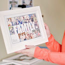Personalised Family Photo Collage Print