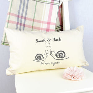 Personalised 'Snail Love' Cushion - cushions